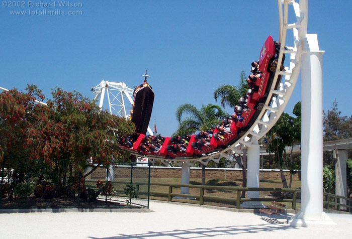 Corkscrew photo from Seaworld Australia