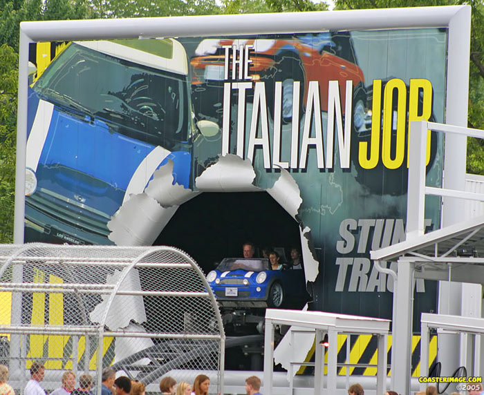 Italian Job Stunt Track photo from Kings Island