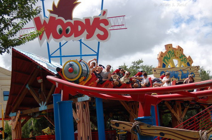 Woody Woodpecker Nuthouse Coaster photo from Universal Studios Florida