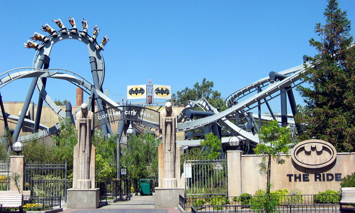 Batman The Ride Six Flags Magic Mountain