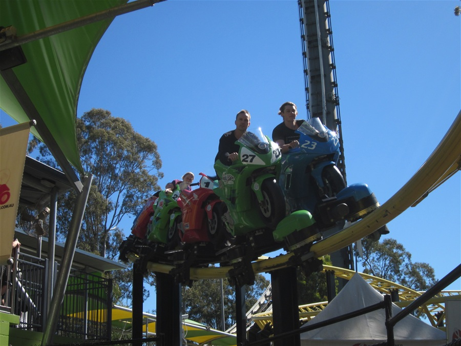 Mick Doohan Motocoaster photo from Dreamworld
