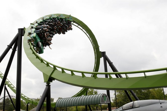 Green Lantern photo from Six Flags Great Adventure