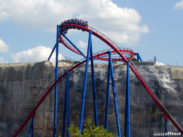 Superman Krypton Coaster photo from Six Flags Fiesta Texas