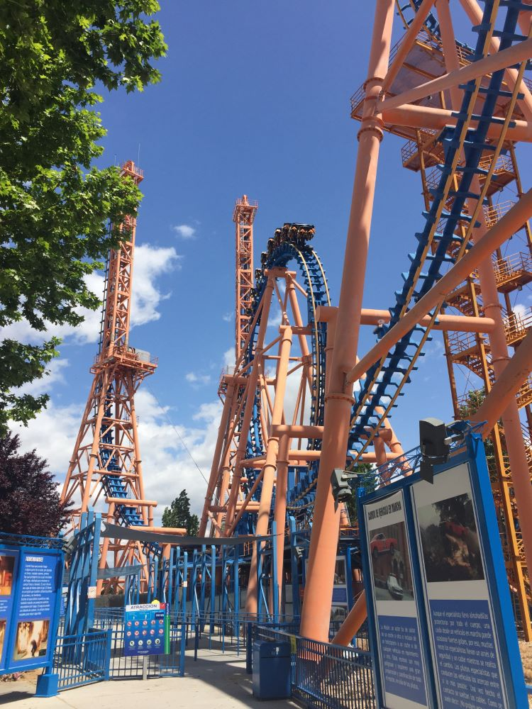 Stunt Fall photo from Warner Bros. Movie World Madrid