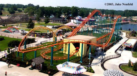 Corkscrew photo from Michigan's Adventure