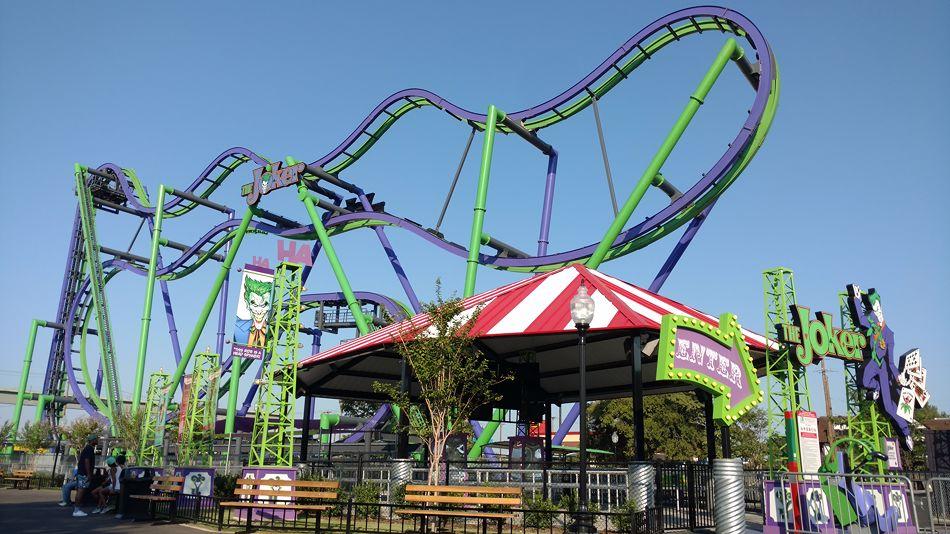 The Joker photo from Six Flags Over Texas - CoasterBuzz