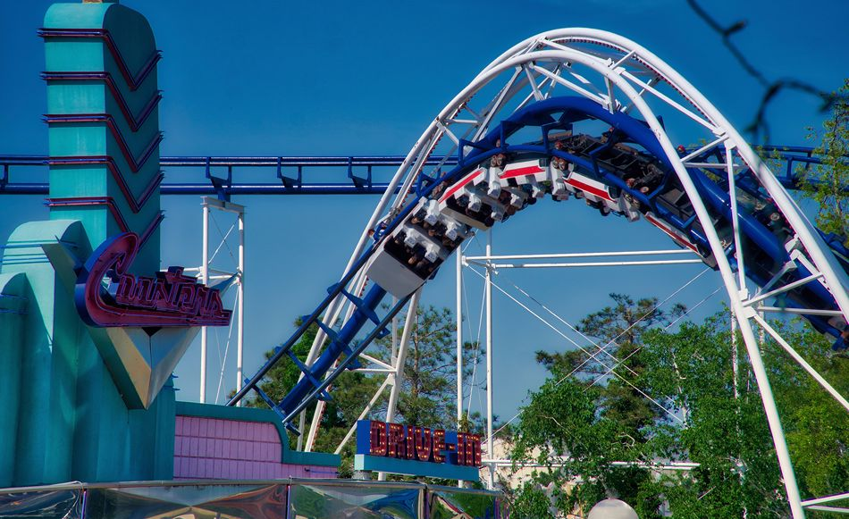 Corkscrew photo from Cedar Point