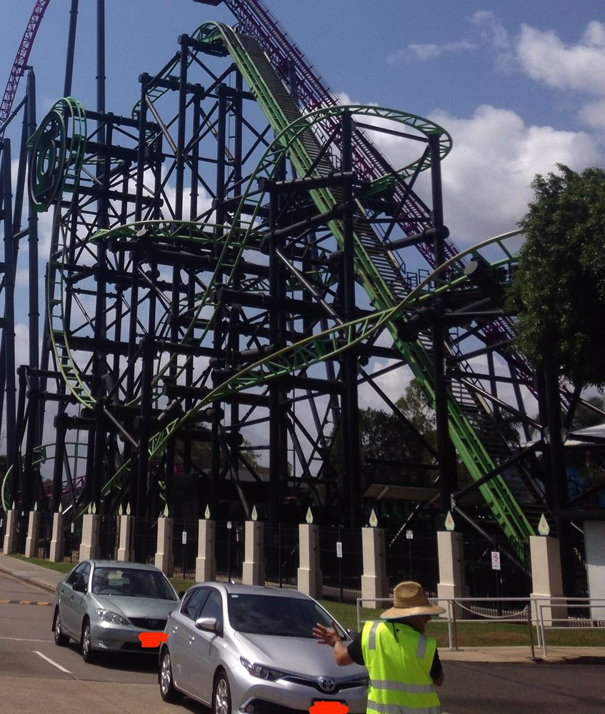 Green Lantern Coaster photo from Warner Bros. Movie World Australia