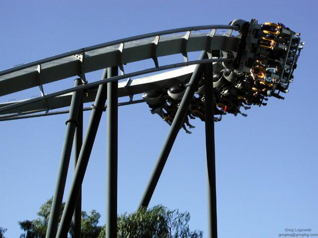 Batman: The Ride photo from Six Flags Magic Mountain